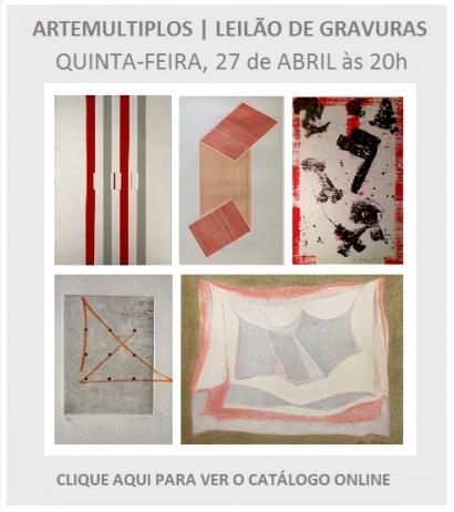 ARTEMULTIPLOS | LEILÃO DE ARTE | 27 ABR, ÀS 20h