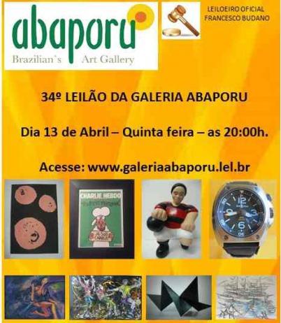 34º LEILÃO DA ABAPORU BRAZILLIANS ART GALLERY
