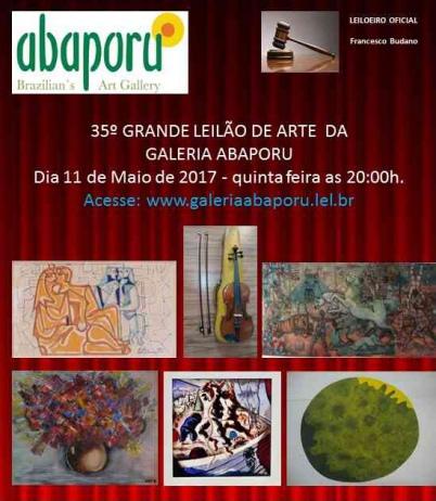 35º LEILÃO DA ABAPORU BRAZILLIANS ART GALLERY