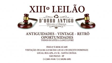 XIIIº LEILÃO ANTIGUIDADES - VINTAGE - RETRÔ - OPORTUNIDADES