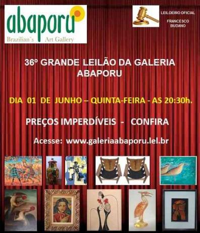 36º LEILÃO DA ABAPORU BRAZILLIANS ART GALLERY