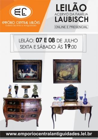 ACERVO DA FAMÍLIA LAUBISCH EMPÓRIO CENTRAL LEILÃO DE ARTE E ANTIGUIDADES