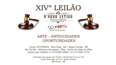 XIVº LEILÃO - ARTE - ANTIGUIDADES - OPORTUNIDADES