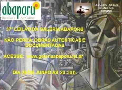37º LEILÃO DA ABAPORU BRAZILLIANS ART GALLERY