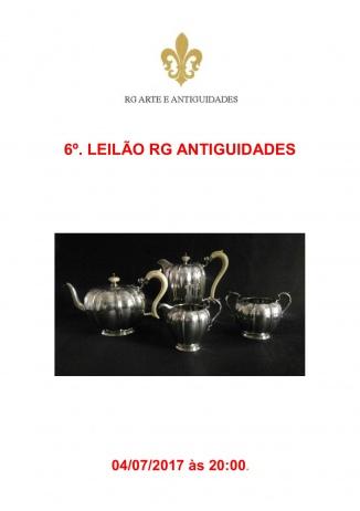 6º LEILÃO RG ANTIGUIDADES - 04/07/2017 às 20h