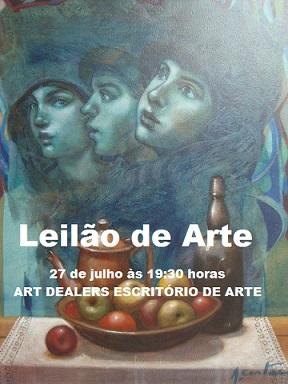 LEILÃO DE ARTE, PEÇAS RESIDENCIAS E LIVROS - OPORTUNIDADE DE ÓTIMAS COMPRAS