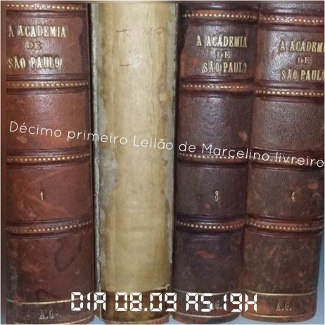 DÉCIMO LEILÃO DE MARCELINO SANTOS LIVREIRO