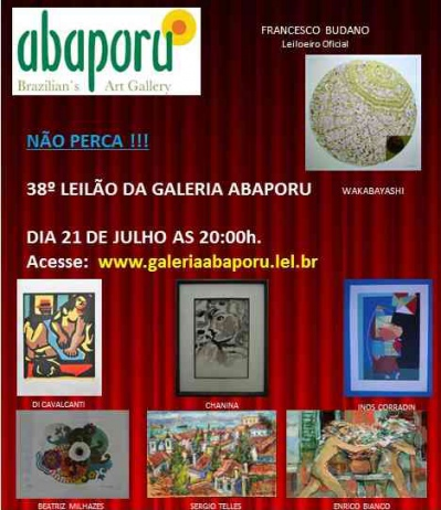 38º LEILÃO DA ABAPORU BRAZILLIANS ART GALLERY