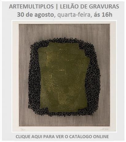 ARTEMULTIPLOS - LEILÃO DE GRAVURAS | 30 AGOSTO, ÀS 16h