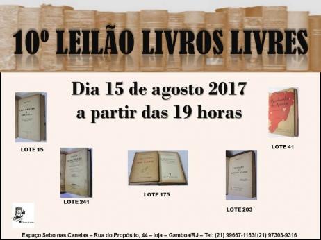 10º LEILÃO LIVROS LIVRES
