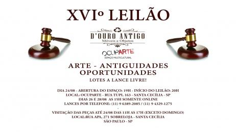 XVIº LEILÃO - ARTE - ANTIGUIDADES - OPORTUNIDADES
