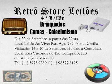 4º Leilão de Brinquedos - Games - Colecionismo