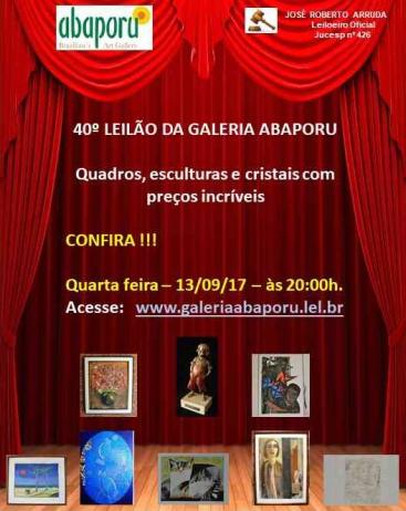 40º LEILÃO DA ABAPORU BRAZILLIANS ART GALLERY