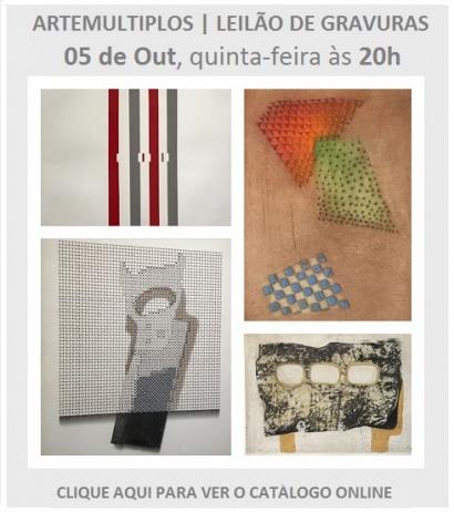 ARTEMULTIPLOS - LEILÃO DE GRAVURAS | 05 OUTUBRO, QUINTA-FEIRA, ÀS 20h