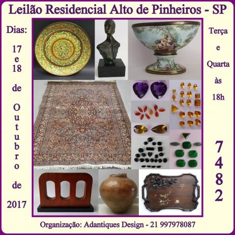 LEILÃO RESIDENCIAL ALTO DE PINHEIROS - SP