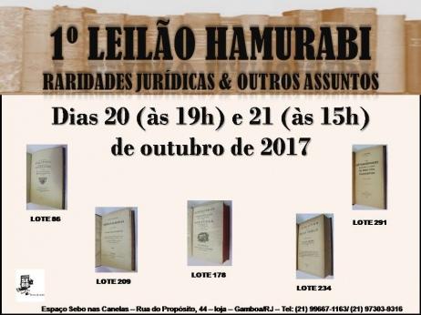 1º LEILÃO HAMURABI - RARIDADES JURÍDICAS & OUTROS ASSUNTOS - Acervo do Livreiro Francisco Olivar
