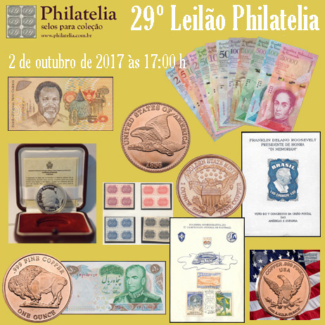 29º Leilão de Filatelia e Numismática - Philatelia Selos e Moedas