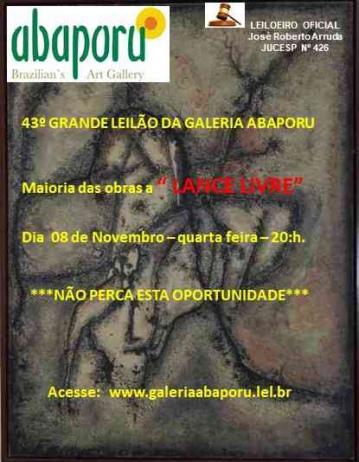 43º Leilão da Abaporu Brazilians Art Gallery