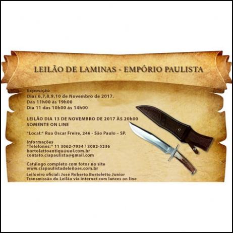LEILÃO DE LAMINAS
