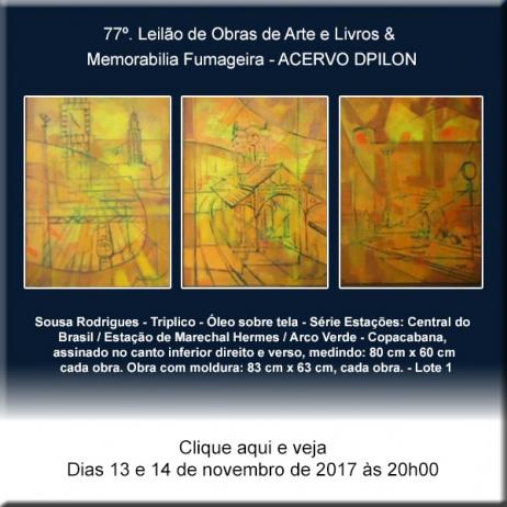 77º - Leilão de Obras de Arte e Livros & Memorabilia Fumageira - Acervo DPilon - 13 e 14/11/2017