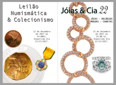 LEILÃO JÓIAS & CIA - 22 (Numismática e Jóias)