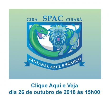 VENDA ESPECIAL - Gira SPAC Rugby Cuiabá - Pantanal Azul e Branco - 26/10/2018