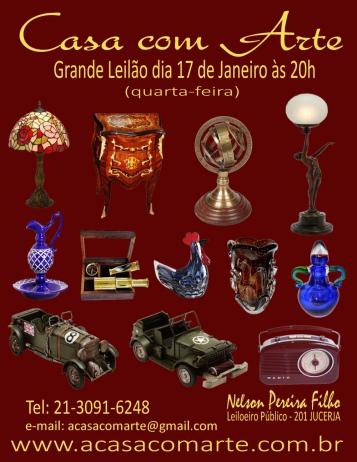 LEILÃO CASA COM ARTE - JANEIRO 2018
