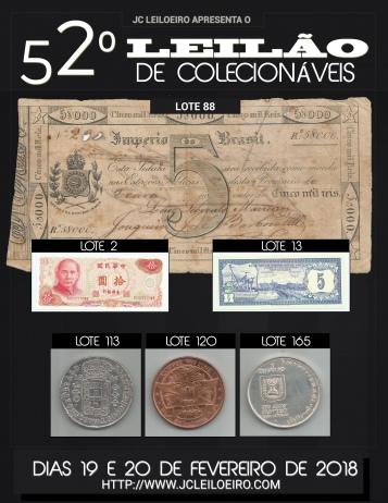 52º GRANDE LEILÃO DE COLECIONÁVEIS
