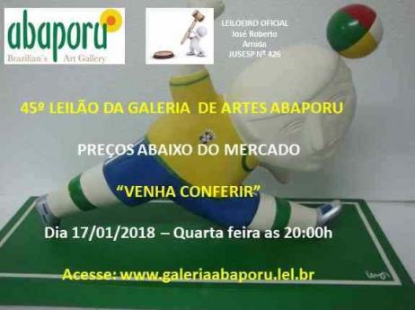 45º Leilão da Abaporu Brazilians Art Gallery.