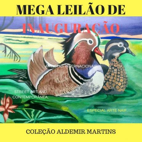 1# MEGA LEILÃO DE INAUGURAÇÃO. STREET ARTE E CONTEMPORÂNEA.