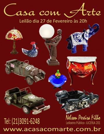 LEILÃO CASA COM ARTE - FEVEREIRO 2018