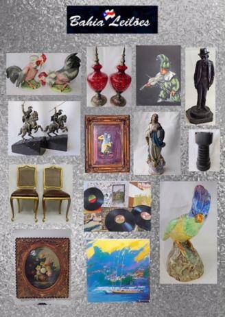 21º Leilão da SÉCULO PASSADO Antiguidades, artes e peças de decoração.