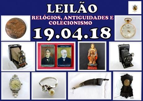 LEILÃO DE RELÓGIOS, ANTIGUIDADES E COLECIONISMO.