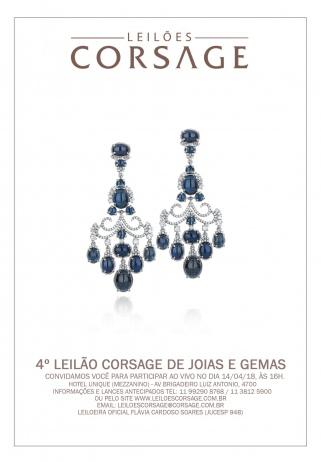 4º LEILÃO CORSAGE DE JOIAS E GEMAS