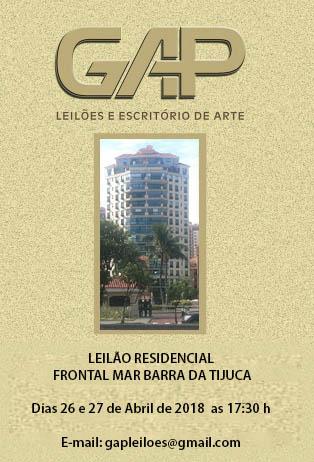 LEILÃO RESIDENCIAL FRONTAL MAR BARRA DA TIJUCA