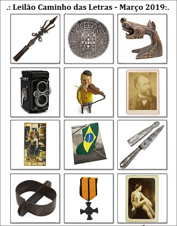 37º LEILÃO DE COLECIONISMO CAMINHO DAS LETRAS