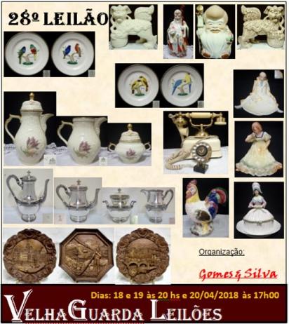 28º Leilão VELHA GUARDA - Antiguidades, Arte, Decoração e Colecionismo