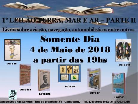 1ºLEILÃO TERRA, MAR E AR II:Livros de Temas Variados,com ênfase na Aviação,Navegação e Automobilismo