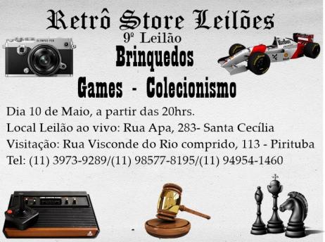 9º Leilão de Brinquedos - Games e Colecionismo