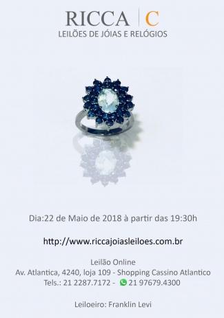 LEILÃO DE JOIAS, RELÓGIOS, BOLSAS DE GRIFE E AFINS