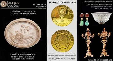 LEILÃO MAIO - PARTE 1 DO ACERVO COLUNISTA SCARLET MOON  E OUTROS. Jóias assinadas Antiguidades Decor