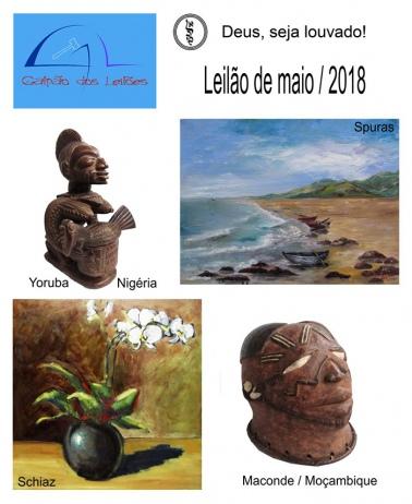 LEILÃO DE ARTE, ANTIGUIDADES, CURIOSIDADES, DECORAÇÃO E LIVROS - 26 e 28/05/2018.