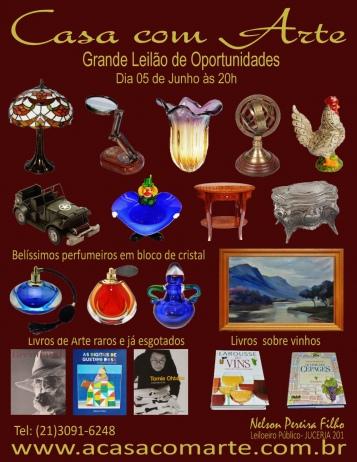 LEILÃO CASA COM ARTE - JUNHO 2018