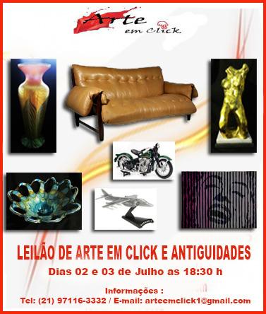 LEILÃO DE ARTE EM CLICK E ANTIGUIDADES