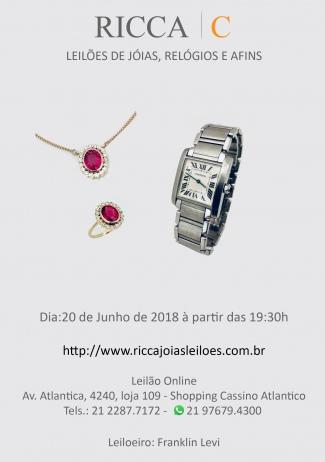 LEILÃO DE JOIAS, RELÓGIOS E AFINS
