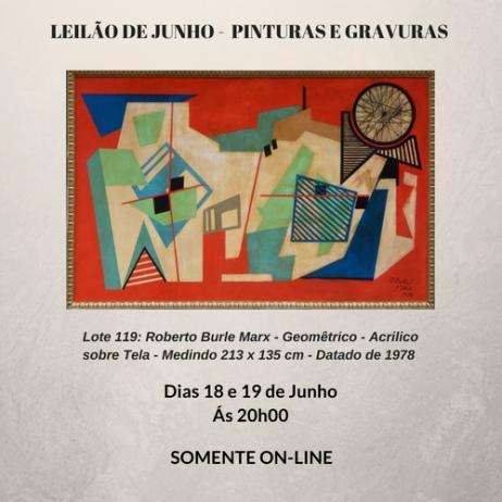 LEILÃO DE JUNHO -  PINTURAS E GRAVURAS