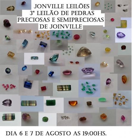 3ª Leilão de Pedras Preciosas e Semipreciosas de Joinville