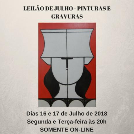 LEILÃO DE JULHO -  PINTURAS E GRAVURAS - 90% A LANCE LIVRE!!