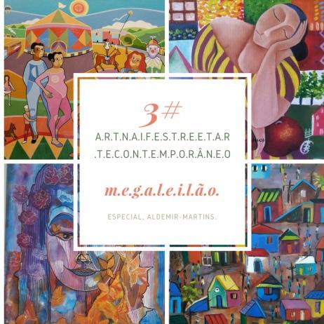 3# MEGA LEILÃO. STREET ART, CONTEMPO/ ESCULTURAS, LIVROS E ARTE NAIF.