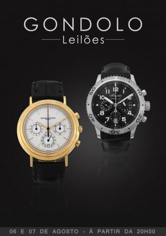 Leilão Gondolo de Alta Relojoaria - Relógios e Canetas - Agosto 2018